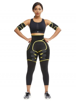 Best Yellow Neoprene Thigh Shaper With Arm Shaper